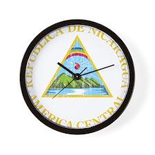 Nicaragua Coat Of Arms Wall Clock