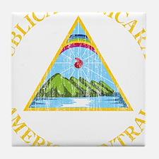 Nicaragua Coat Of Arms Tile Coaster