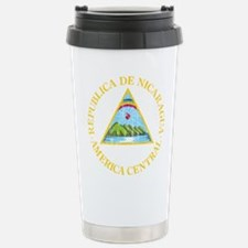 Nicaragua Coat Of Arms Stainless Steel Travel Mug