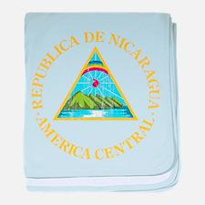 Nicaragua Coat Of Arms baby blanket