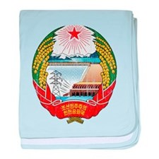 North Korea Coat Of Arms baby blanket