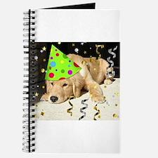 Birthday Party Golden Retriever Journal