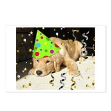 Birthday Party Golden Retriever Postcards (Package