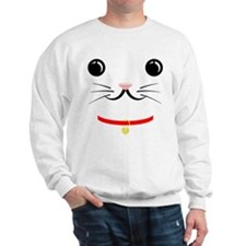 Lucky Cat Face Sweatshirt