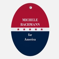 Michele Bachmann for America Ornament (Oval)