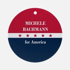 Michele Bachmann for America Ornament (Round)
