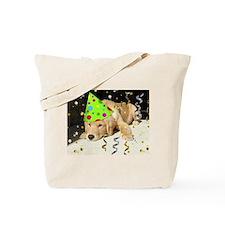 Birthday Party Golden Retriever Tote Bag