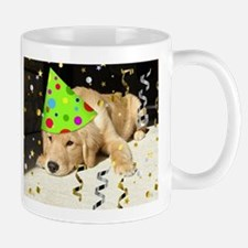 Birthday Party Golden Retriever Mug