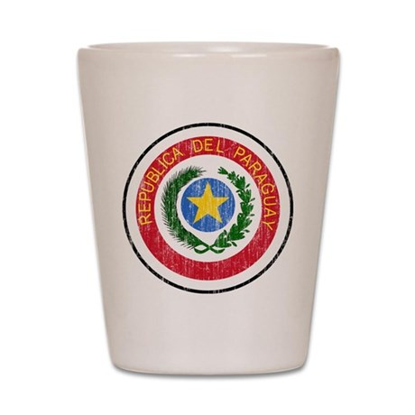 Paraguay Coat Of Arms Shot Glass