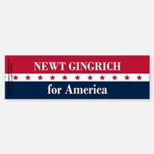 Newt Gingrich for America Sticker (Bumper)
