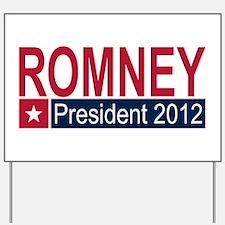 Romney President 2012 Yard Sign