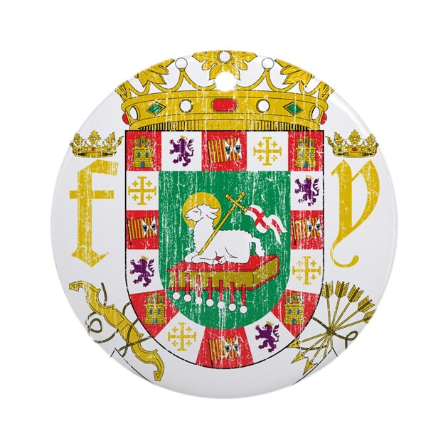 puerto rico coat of arms ornament round by coatofarmsartaged