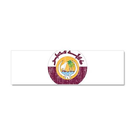 Qatar Coat Of Arms Car Magnet 10 x 3
