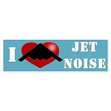 """I Heart Jet Noise"" Bumper Sticker"