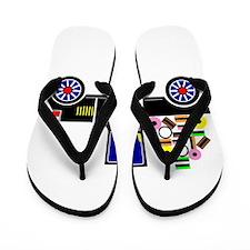 Virtual Cars Flip Flops
