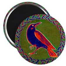 Celtic Crow Multi Color Magnet