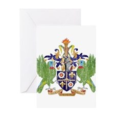 Saint Lucia Coat Of Arms Greeting Card