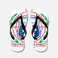 Samoa Coat Of Arms Flip Flops