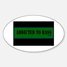 Addicted to Bass Oval Decal