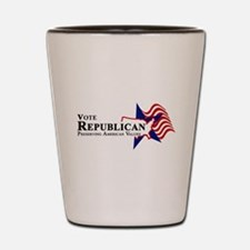 Vote Republican American Shot Glass