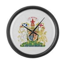 Scotland Coat Of Arms Large Wall Clock
