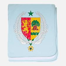 Senegal Coat Of Arms baby blanket