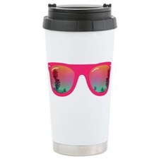 sunglasses summer Stainless Steel Travel Mug