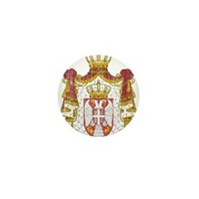 Serbia Coat Of Arms Mini Button (10 pack)