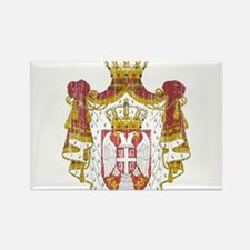 Serbia Coat Of Arms Rectangle Magnet