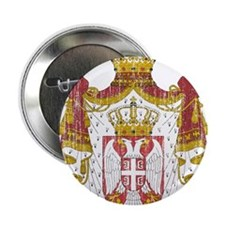"Serbia Coat Of Arms 2.25"" Button"