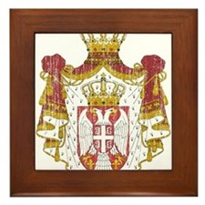 Serbia Coat Of Arms Framed Tile