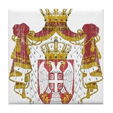 Serbia Coat Of Arms Tile Coaster