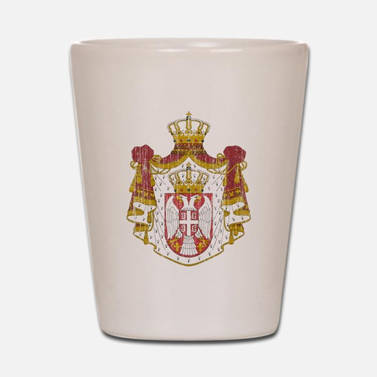 Serbia Coat Of Arms Shot Glass