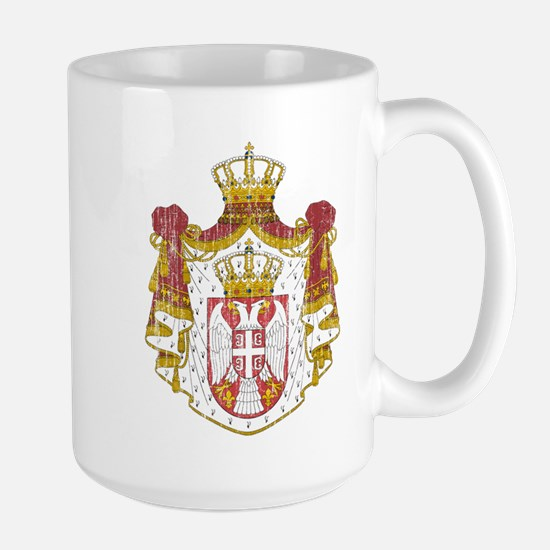 Serbia Coat Of Arms Large Mug