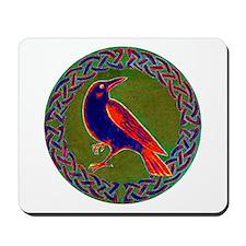 Celtic Crow Multi Color Mousepad
