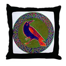 Celtic Crow Multi Color Throw Pillow