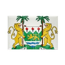 Sierra Leone Coat Of Arms Rectangle Magnet