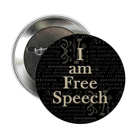 """I am Free Speech Dark 2.25"""" Button"""