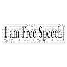 I am Free Speech Bumper Sticker