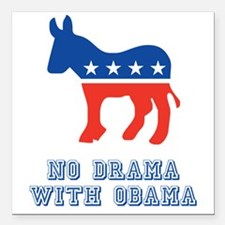 "Obama 12 Square Car Magnet 3"" x 3"""