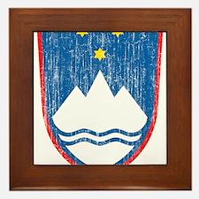 Slovenia Coat Of Arms Framed Tile