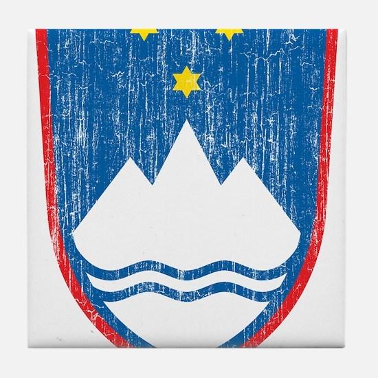Slovenia Coat Of Arms Tile Coaster