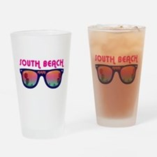 South Beach Miami Drinking Glass