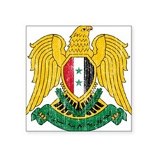 "Syria Coat Of Arms Square Sticker 3"" x 3"""