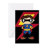 Masked Superhero Boy Greeting Cards (Pk of 10)