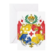 Tonga Coat Of Arms Greeting Cards (Pk of 20)