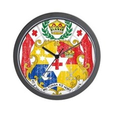 Tonga Coat Of Arms Wall Clock