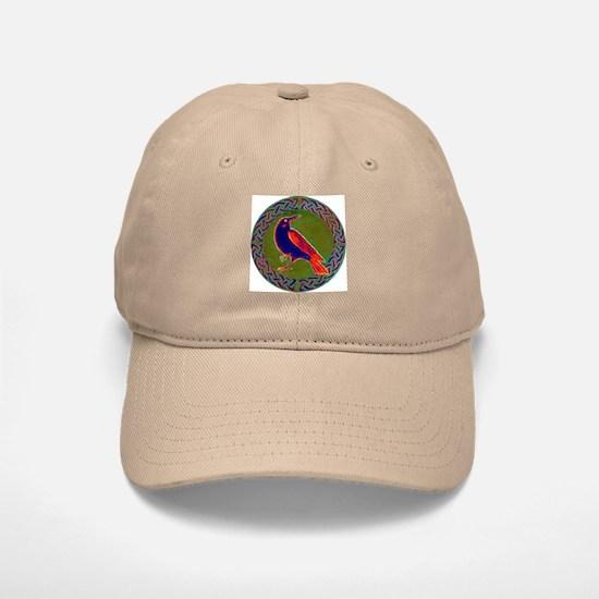 Celtic Crow Multi Color Baseball Baseball Cap