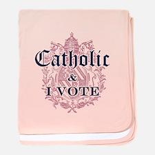 Catholic I Vote baby blanket