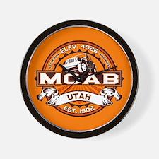 Moab Orange Wall Clock